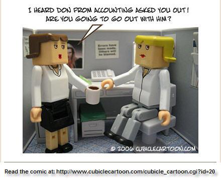 Office romance cartoon