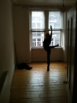 Lynsey May in her flat